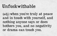 How To Be UnFuckWithAble