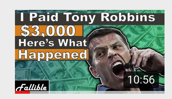 This Options Trader Paid $3,000 To See Tony Robbins